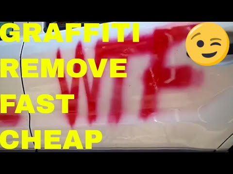 How To Remove Graffiti And Paint/OverSpray From Your Car Or Truck