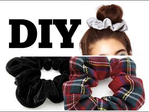DIY// How to make Hair Scrunchies
