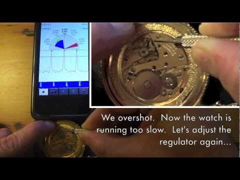 Using WildSpectra Mobile to Regulate a Mechanical Watch