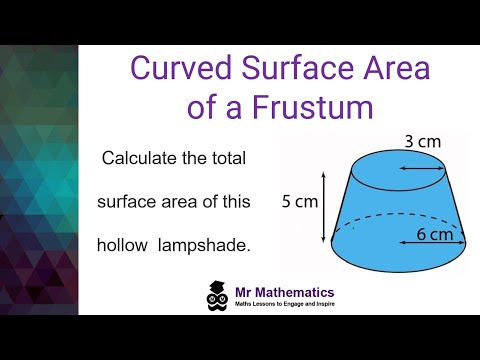 Curved Surface Area of a Frustum