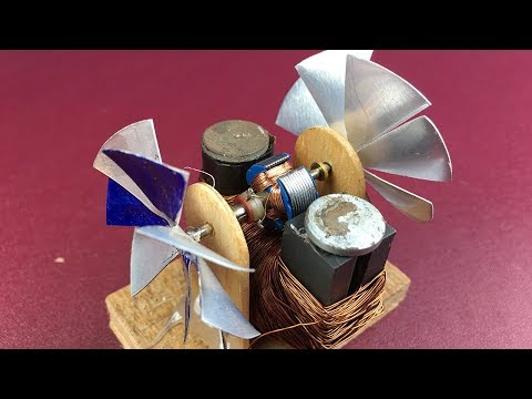 Mini Electric DC Motor DIY and Universal Motor with Fans - How to make electricity rotor prepare