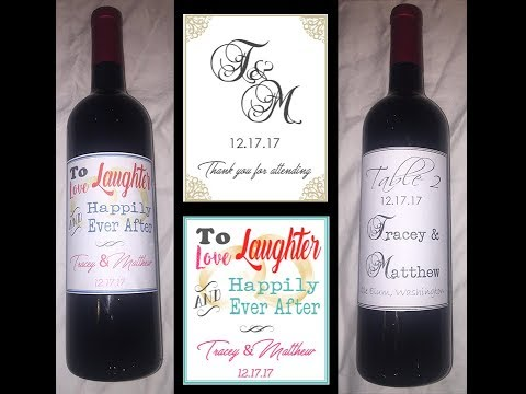 How to make custom wine labels with MS Word