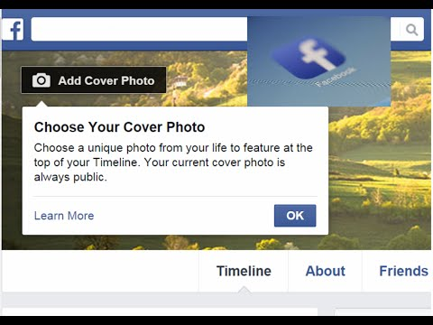 How to change settings of Facebook Cover photo? New cover photo settings by Facebook.