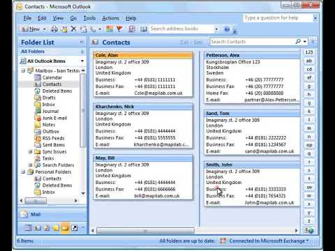 Hide fax numbers in Microsoft Outlook contacts