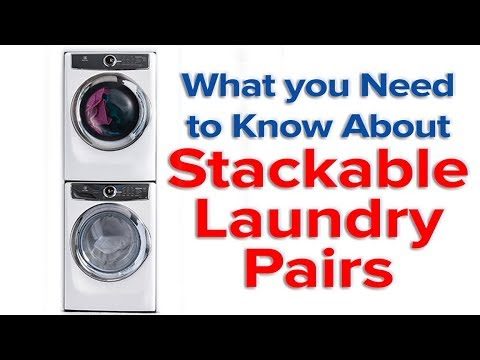 What to know about Buying Stack-able Washer & Dryer