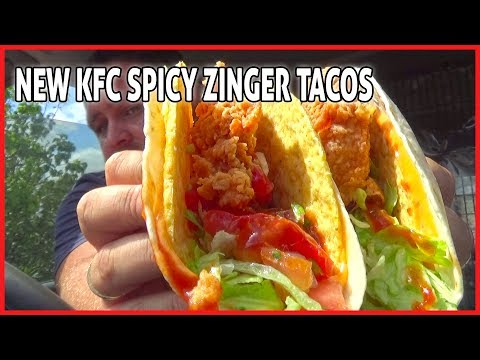 New KFC Spicy Zinger Taco Review - Australia's First Review - Lets see what I think 🤔