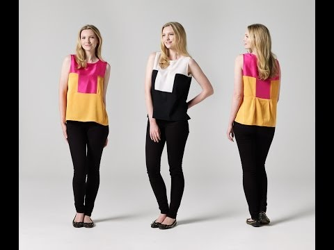 How to Make a Two-Tone Singlet | Teach Me Fashion | FREE Sewing Pattern