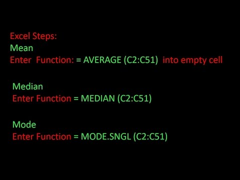 Mean Median and Mode: How to Calculate by Hand and Using Excel