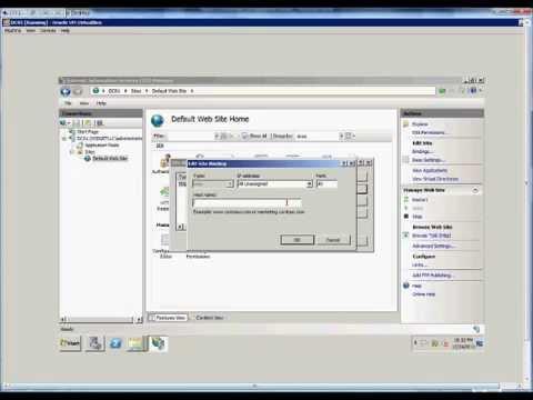 How to setup tcp port bindings in IIS on a Windows 2008 R2 server