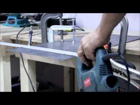 how to cut sheet metal straight with a jigsaw