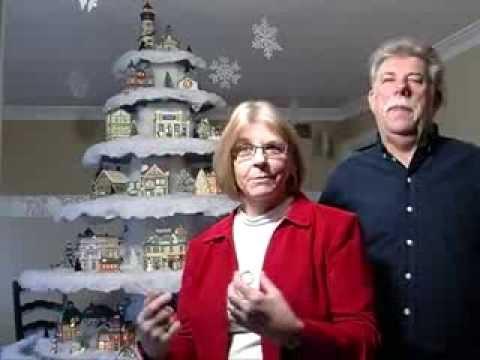 Dare & Tony Cline's beautiful Christmas Village Tree