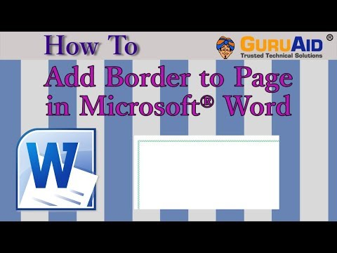How to Add Border to Page in Microsoft® Word - GuruAid