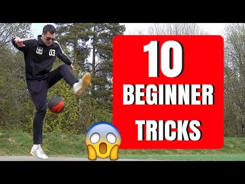 10 BEGINNER TRICKS - FREESTYLE FOOTBALL - AZUN Freestyle Football