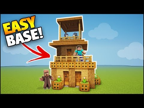 Minecraft: Wooden Survival House Tutorial - How to Build a