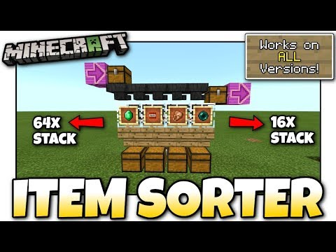 Minecraft - AUTOMATIC ITEM SORTER [ Redstone Tutorial ] Works on ALL Versions !