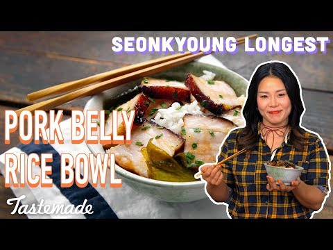 Chinese-Style BBQ Pork Belly Rice Bowl I Seonkyoung Longest