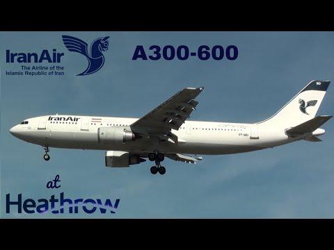 Iran Air Airbus A300-600 {EP-IBC/D} Landing at London Heathrow