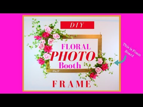 DIY PHOTO BOOTH FRAME | DOLLAR TREE WEDDING DIY