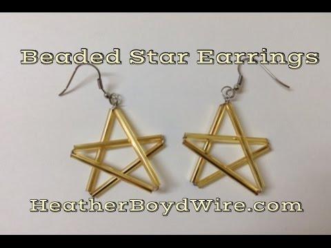 Easy Beaded Star Earrings DIY Tutorial