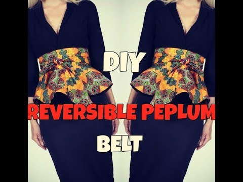 ✂️ ❤️ DIY: REVERSIBLE PEPLUM BELT|DETACHABLE HIGH WAIST BELT|CIRCLE  SKIRT
