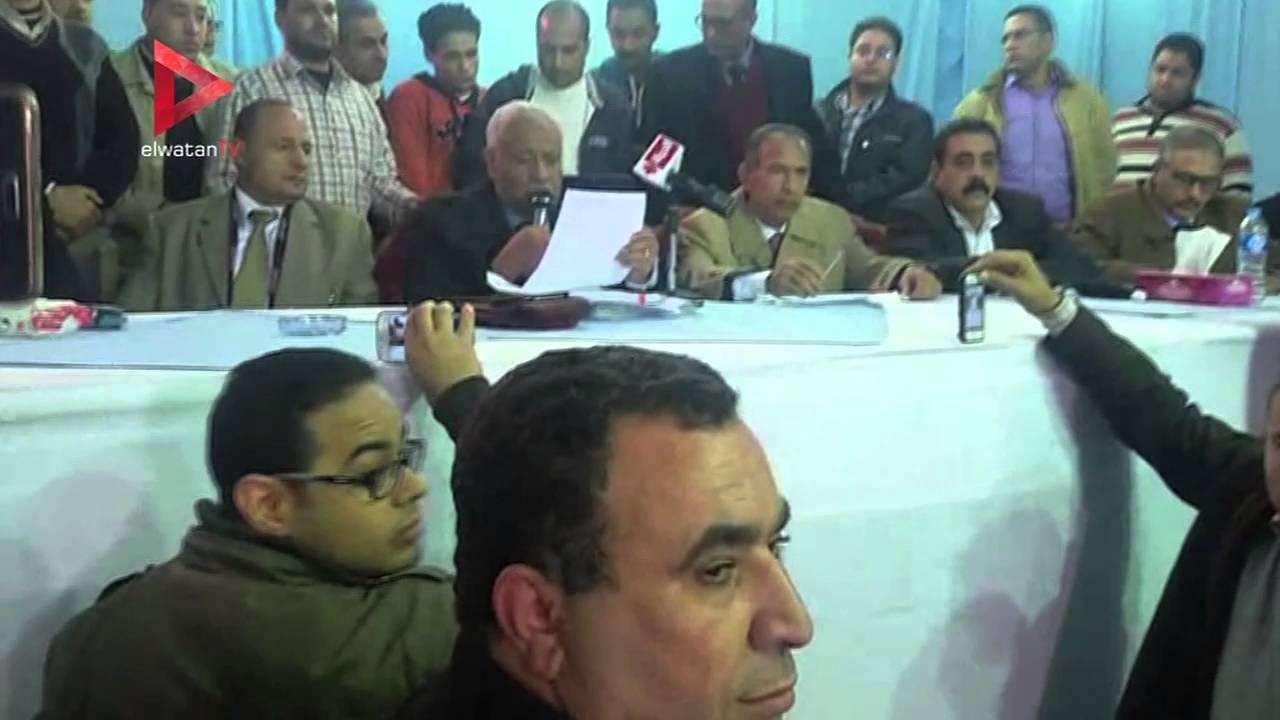 إعلان نتائج الدائرة الأولى للانتخابات في بني سويف
