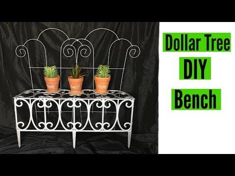 DIY Dollar Tree Decorative Porch Bench | Home and Garden Decor