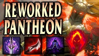 REWORKED PANTHEON FULL LETHALITY 800+ AD! SPEAR SNIPE ONE-SHOTS! - League of Legends S9