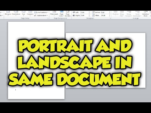 How To Have Portrait And Landscape Pages In The Same Word Document 2016. Portrait & Landscape guide