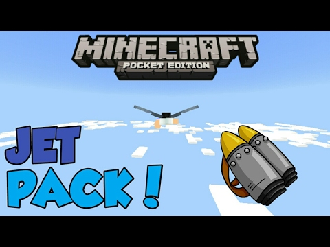 Minecraft PE | How to Make a Working JetPack! | Command Block creation