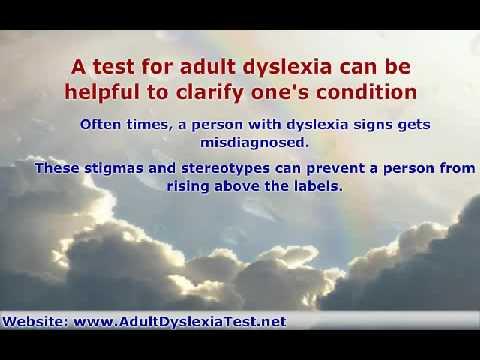Adult Dyslexia Test For Dyslexia Diagnosis