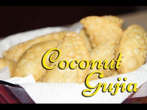 Coconut Gujia | Nuereos | Karanji - TheGreatIndianTaste.com