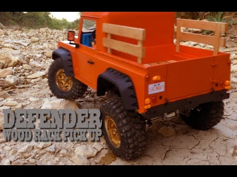 RC SCALE - DEFENDER WOOD RACK PICK UP Homemade - First run