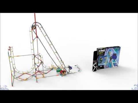 K'NEX Blizzard Blast Roller Coaster Building Set