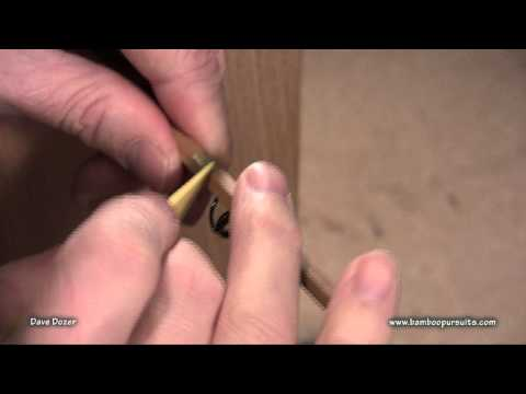 Hand Wrapping Guides on Bamboo Fly Rods.mpg