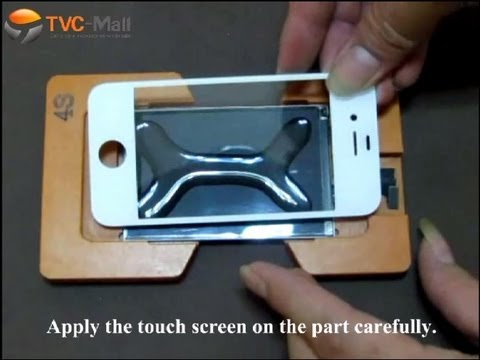 How to Bond iPhone 4S Glass Touch Screen to LCD Panel Perfectly