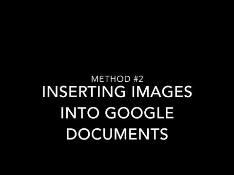 Inserting Images Into Your Google Docs Method #2