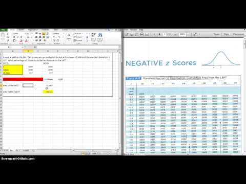 normal curve area using excel