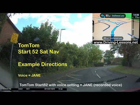 SatNav - How does the TomTom Start 52 give directions? (example 1 - recorded voice JANE)