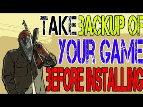 How to make backup of your game before installing graffic mod[CC]