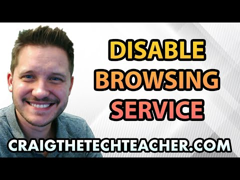 Disable Computer Browsing Service on Windows XP