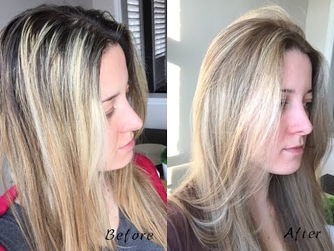 How to Tone Highlights & Soften the Base With Hair Dye (Ash Blond)