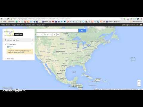 Create & Rename Google Map