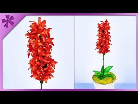 DIY How to make ribbon hyacinth (ENG Subtitles) - Speed up #455