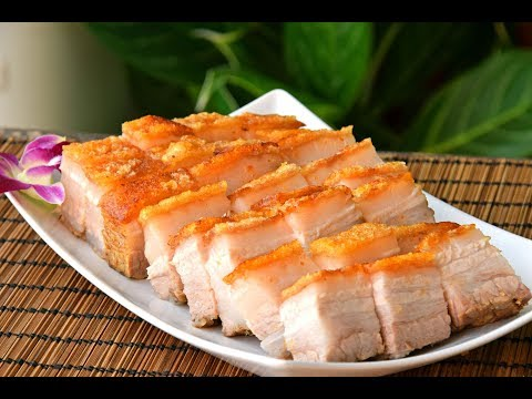 Siu Yuk, Chinese Crispy Roast Pork Belly: Hong Kong Chacaanteng-style Cantonese pork, at home (烧肉)