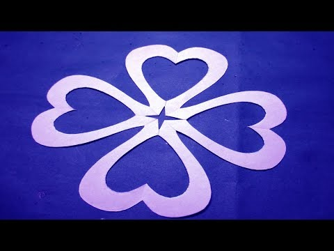 Paper Cutting -How to make paper cutting design Flowers? kirigami-DIY Tutorial step by step.