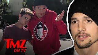 Ashton Kutcher Accidentally Nailed A Young Man | TMZ TV