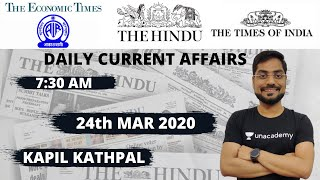 The Hindu Analysis- Daily Current Affairs (24th Mar 2020) by Kapil Kathpal