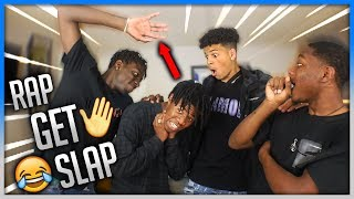 IF YOU RAP YOU GET SLAPPED (PART 2) 😭👋🏼 HE GOT SO MAD 😡