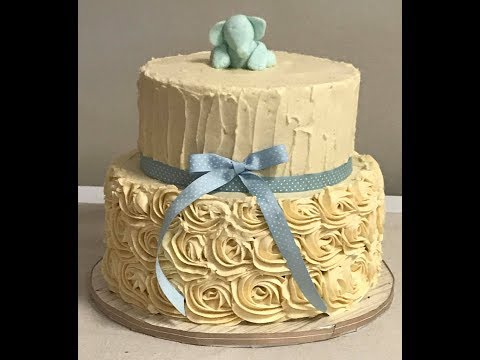 Decorate With Me: Vintage Rosette Baby Shower Cake Tutorial