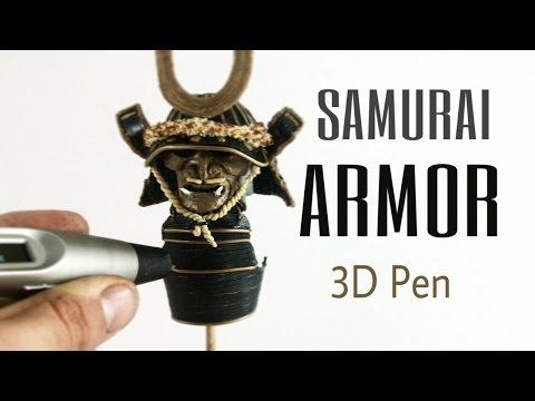 3D Pen Creations | Making a samurai armor | Part one: Mask and helmet